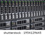 storage server with many hdd...   Shutterstock . vector #1954129645