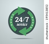 24 7 hours service sign in flat ... | Shutterstock .eps vector #195413852