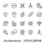 vector set of brand line icons. ... | Shutterstock .eps vector #1954138948
