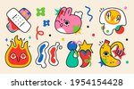collection of crazy abstract... | Shutterstock .eps vector #1954154428