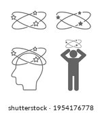 dizzy head person sick concept...   Shutterstock .eps vector #1954176778
