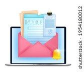 online invoice  digital bill ... | Shutterstock .eps vector #1954180012