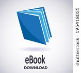 illustration of download ebook. ... | Shutterstock .eps vector #195418025