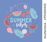 summer greeting card with...   Shutterstock .eps vector #1954204435