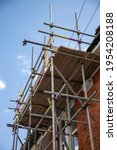 Scaffolding Poles Erected On...