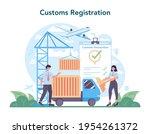 Customs Officer Concept....