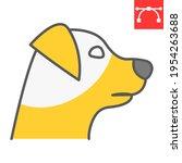 dog head color line icon  pet... | Shutterstock .eps vector #1954263688