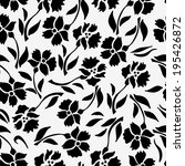 seamless pattern with black... | Shutterstock .eps vector #195426872