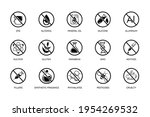 toxic free icon set....   Shutterstock .eps vector #1954269532