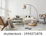 Domestic Interior Of Living...