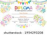 Horizontal Diploma. Bright...