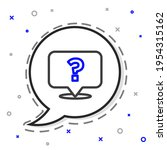 line question mark icon... | Shutterstock .eps vector #1954315162