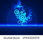 abstract techno gear background ...   Shutterstock .eps vector #1954333555