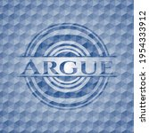 argue blue badge with geometric ... | Shutterstock .eps vector #1954333912