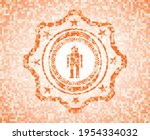 robot icon inside abstract... | Shutterstock .eps vector #1954334032
