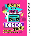 retro poster. 80s style placard ...   Shutterstock .eps vector #1954353532