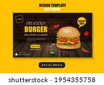 fast food social media and... | Shutterstock .eps vector #1954355758
