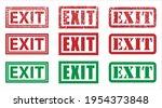 exit grunge stamp icon symbol....   Shutterstock .eps vector #1954373848