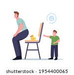 little laughing boy character...   Shutterstock .eps vector #1954400065