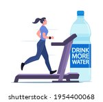 healthy lifestyle  hydration... | Shutterstock .eps vector #1954400068