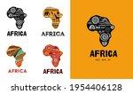 africa patterned map ...   Shutterstock .eps vector #1954406128