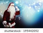 santa claus enjoying the sound... | Shutterstock . vector #195442052