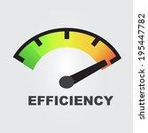 efficiency gauges concept | Shutterstock .eps vector #195447782