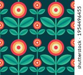 background flowers and leaves... | Shutterstock .eps vector #1954496455
