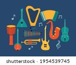 musical instruments set icons...   Shutterstock .eps vector #1954539745
