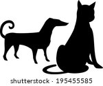 the view of animal  | Shutterstock .eps vector #195455585