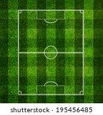 soccer field  green grass... | Shutterstock . vector #195456485