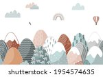 seamless pattern with doodle... | Shutterstock .eps vector #1954574635