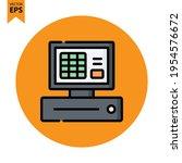 cashier machine icon vector...