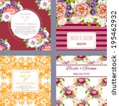 wedding invitation cards with... | Shutterstock . vector #195462932