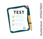 green folder with checklist... | Shutterstock .eps vector #1954675825