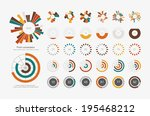 infographic elements.pie chart... | Shutterstock .eps vector #195468212
