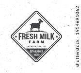 fresh natural milk badge  logo. ...   Shutterstock .eps vector #1954691062