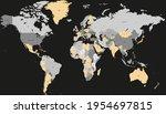 world map. color vector modern. ... | Shutterstock .eps vector #1954697815