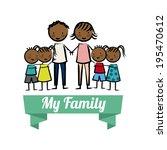 family design over white... | Shutterstock .eps vector #195470612