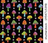 mod neon colors mushroom...