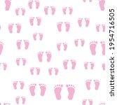 Simple Pattern Pink Baby Foot...