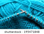 Knitting With Spokes Close Up