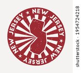 new jersey stamp. travel red... | Shutterstock .eps vector #1954724218