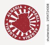 algeria stamp. travel red... | Shutterstock .eps vector #1954724308