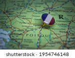 Poitiers Pinned On A Map With...