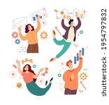 people man woman character... | Shutterstock .eps vector #1954797832