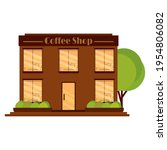 isolated coffee shop building.... | Shutterstock .eps vector #1954806082