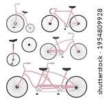 vector set bundle of pink flat...   Shutterstock .eps vector #1954809928