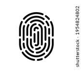 fingerprint  unique identity of ...   Shutterstock .eps vector #1954824802
