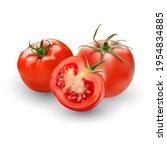 tomato set. red tomato... | Shutterstock .eps vector #1954834885